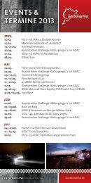 events & teRMIne 2013 - Nürburgring
