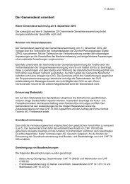 Verhandlungsbericht 8 - Gemeinde Nuerensdorf