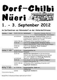 1. - 3. September 2012 im Dorfzentrum von Nürensdorf an der ...