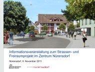 Baustelle Alte Winterthurerstrasse - Gemeinde Nuerensdorf