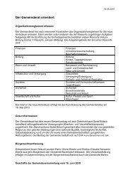 Verhandlungsbericht 5 - Gemeinde Nuerensdorf