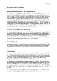 Verhandlungsbericht 3 - Gemeinde Nuerensdorf