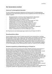 Verhandlungsbericht 6 - Gemeinde Nuerensdorf