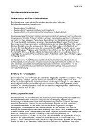 Verhandlungsbericht August 2009 - Gemeinde Nuerensdorf