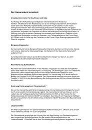 Verhandlungsbericht 7 - Gemeinde Nuerensdorf
