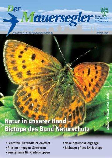 Natur in unserer Hand – Biotope des Bund Naturschutz