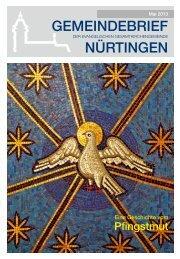 Mai 2013 - Evangelische Gesamtkirchengemeinde Nürtingen