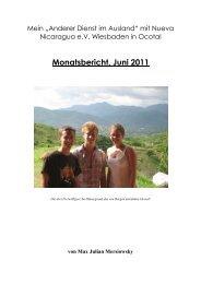Monatsbericht 06/11 - Nueva Nicaragua eV Wiesbaden