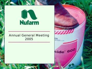 Annual General Meeting 2005 - Nufarm
