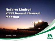 2008 AGM Presentation - Nufarm
