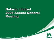 2006 in review - Nufarm