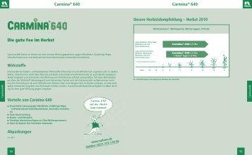 Carmina® 640 Carmina® 640 Die gute Fee im Herbst - Nufarm
