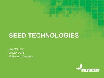 SEED TECHNOLOGIES - Nufarm
