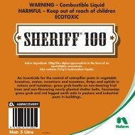 Sheriff 100 label - Nufarm