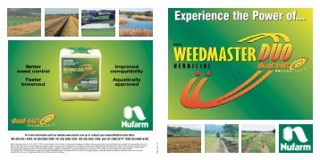 Nufarm introduces Weedmaster Duo Brochure (PDF 300kb)