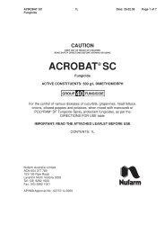 ACROBAT SC Fungicide - Nufarm