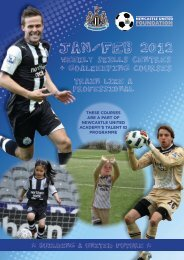 Weekly Skills Centres Jan 2012 - Newcastle United