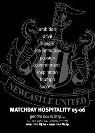 HOSPITALITY A5 FLYER - Newcastle United
