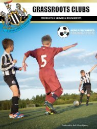 Newcastle United Foundation - GRASSROOTS CLUB - Brochure 2013