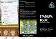 STADIUM TOUR - Newcastle United