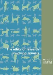 The ethics of research involving animals - Nuffield Council on ...