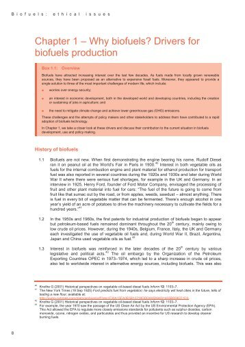 Chapter 1 ± Why biofuels? Drivers for biofuels production