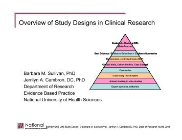 Overview of Study Designs in Clinical Research - National ...