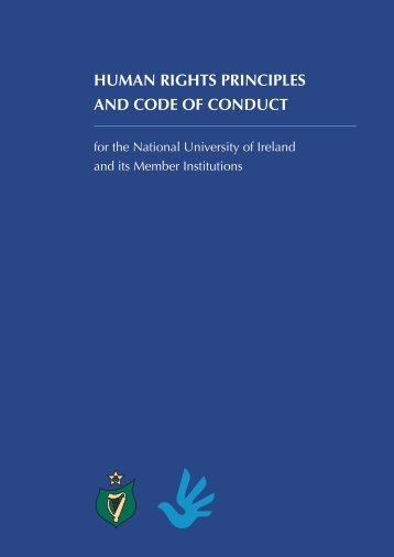 Human RigHts PRinciPles and code of conduct - National University ...