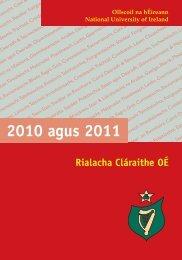 2010and2 2010 agus 2011 - National University of Ireland
