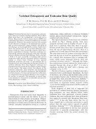 Vertebral Osteoporosis and Trabecular Bone Quality - National ...