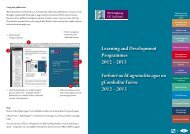 Learning and Development Programmes - National University of ...
