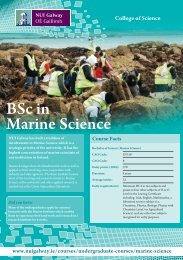 BSc in Marine Science - National University of Ireland, Galway