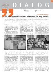 Das Mehrgenerationenhaus - Diakonie für Jung und Alt