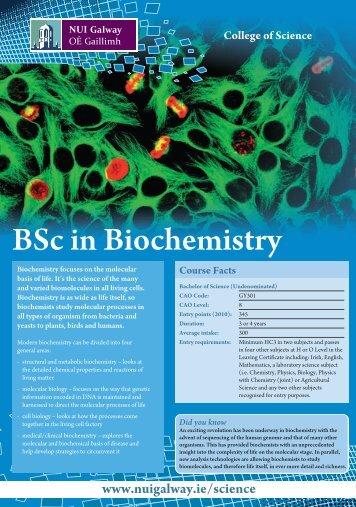 BSc in Biochemistry