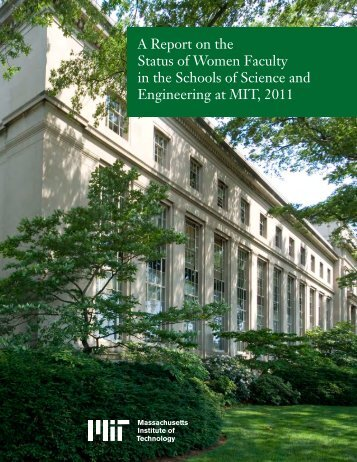 A Report on the Status of Women Faculty - MIT
