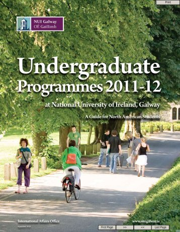 Undergraduate - National University of Ireland, Galway