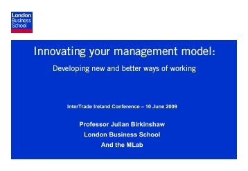 Innovating your management model: