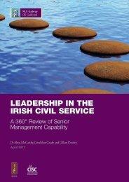 leadership in the irish civil service - National University of Ireland ...