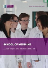 SCHOOL OF MEDICINE - National University of Ireland, Galway