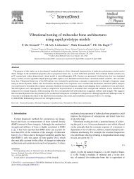 Vibrational testing of trabecular bone architectures using rapid ...