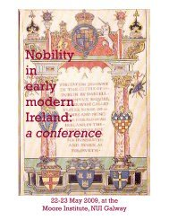 Nobility in early modern Ireland: a conference - National University ...