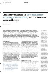An introduction to the disability strategy 2010-2020, with a focus on ...
