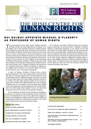 Bulletin - Volume 12, Issue 1 - National University of Ireland, Galway