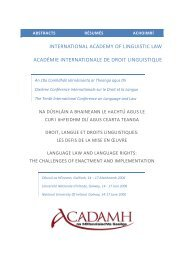 international academy of linguistic law académie internationale de ...