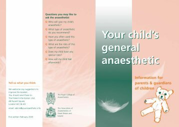 Your child's general anaesthetic - National University of Ireland ...