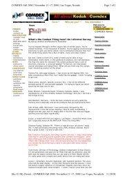 COMDEX Fall 2000 | November 13 -17, 2000 | Las Vegas, Nevada ...