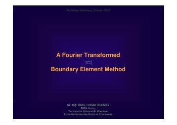 A Fourier Transformed Boundary Element Method