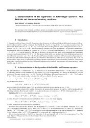 A characterization of the eigenvalues of Schrödinger operators with ...