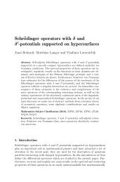 Schrödinger operators with δ and δ - Institut für Numerische ...