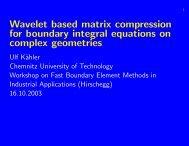 Wavelet based matrix compression for boundary integral equations ...